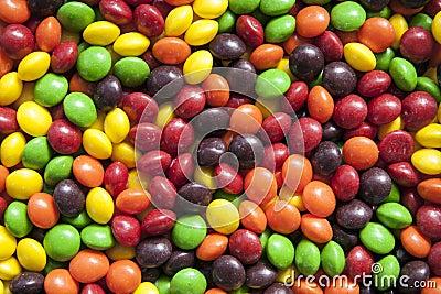 Близкие цветастые конфеты