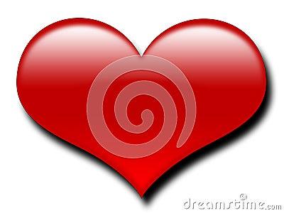 большой красный цвет сердца