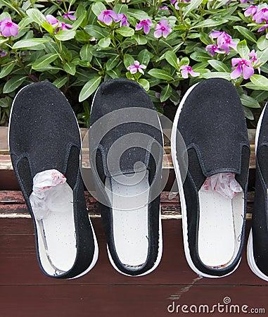 ботинки ткани
