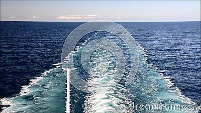 Бодрствование корабля видеоматериал