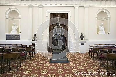 Бронзовый генерал Роберт E. Ли Редакционное Стоковое Фото