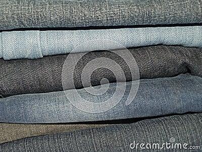 Брюки джинсовой ткани