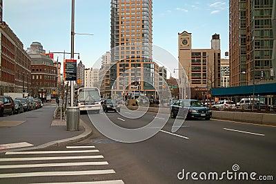 Бульвар Flatbush, нью-йорк Бруклина Редакционное Фотография