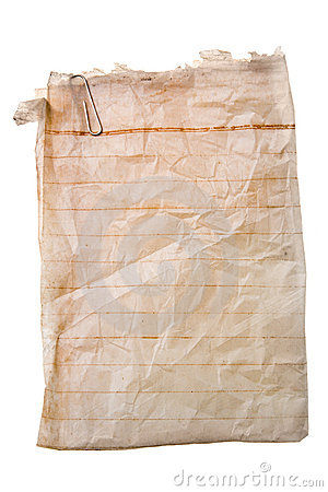 бумага зажима старая