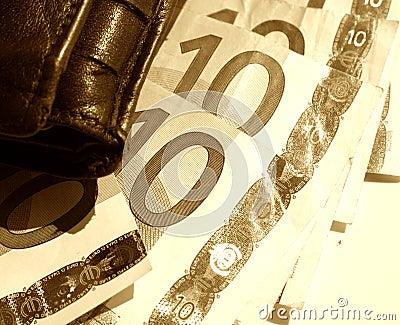 бумажник эскиза евро