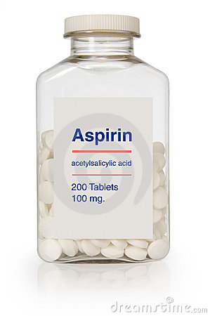 бутылка аспирина Редакционное Фото