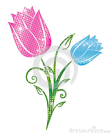 Блестящие тюльпаны
