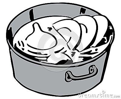 Блюда в ведре