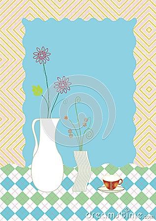 ваза цветка