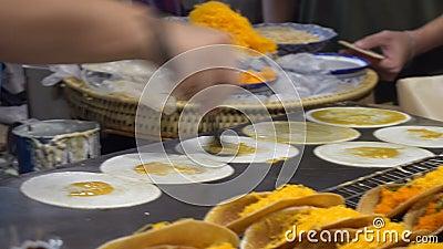Варить традиционный подлинный тайский десерт акции видеоматериалы