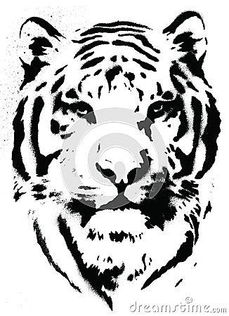 Вектор восковки тигра