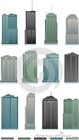 вектор зданий