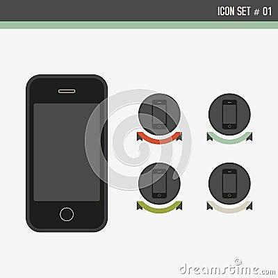 вектор иконы установленный