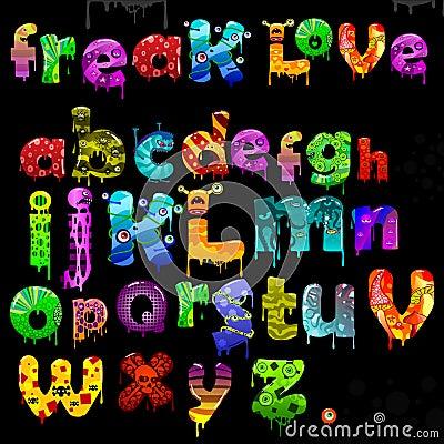 вектор freak алфавитом
