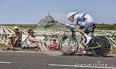 Велосипедист Том Dumoulin Редакционное Фото