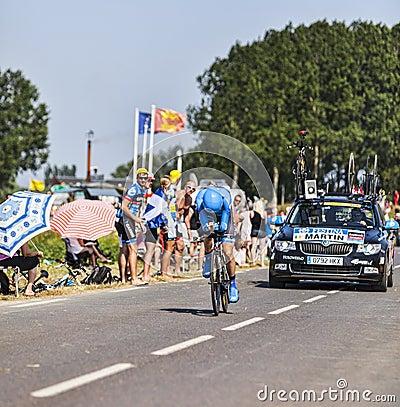 Велосипедист Даниель Мартин Редакционное Фото