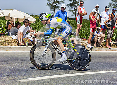 Велосипедист Simon Кларк Редакционное Фото
