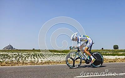 Велосипедист Wouter Poels Редакционное Фото