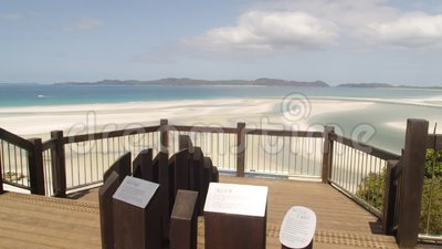 Взгляд пляжа от палубы взгляда видеоматериал