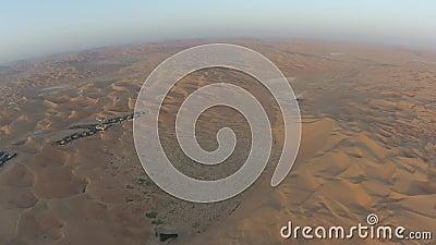 Взгляд пустыни от воздуха рано утром видеоматериал