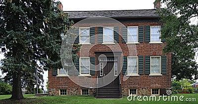 взгляд 4K UltraHD в Brampton, Канаде исторического дома Bovaird видеоматериал