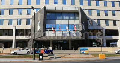 взгляд 4K UltraHD здание муниципалитета, Лондона, Канады видеоматериал