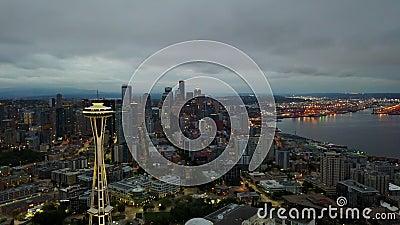 Видео Сиэтл twilight воздушное сток-видео