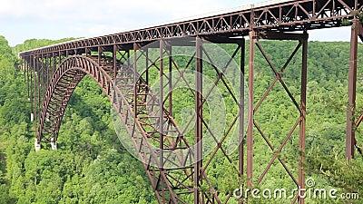 Вид на сторону моста Ново-Ривер сток-видео