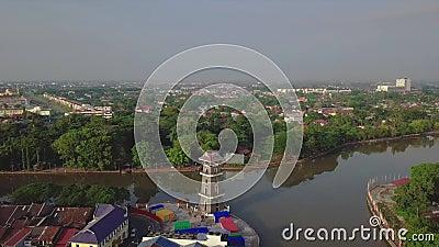 Вид с воздуха получившегося отказ дома в Seremban Малайзии акции видеоматериалы