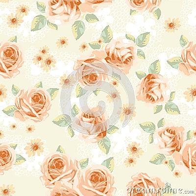 Винтажные розы - безшовные