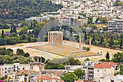 Висок Zeus олимпийца, Афиныы