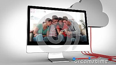 Видео друзей на множественных приборах акции видеоматериалы