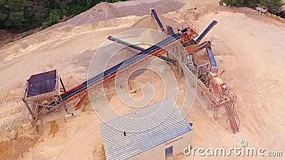 Вид с воздуха машины шахты трутня видеоматериал