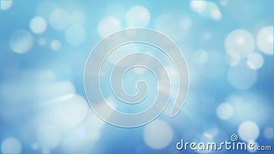 Влияние bokeh зимы Холодные голубые запачканные света Волшебные сияющие света видеоматериал