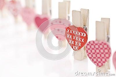 влюбленность сердца зажима