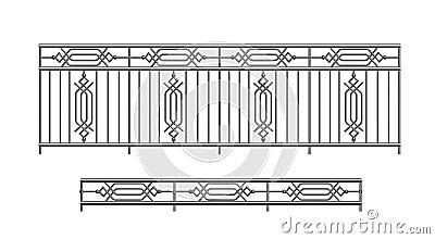 внешний railing парапета металла