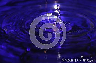 вода выплеска голубого падения жидкостная
