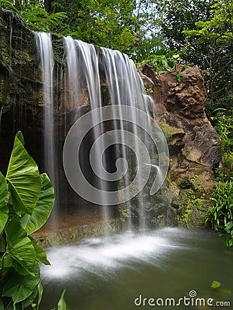 водопад ботанического сада