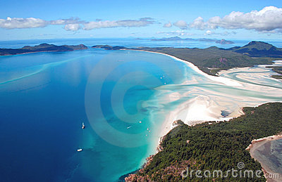 воздушный взгляд пляжа whitehaven