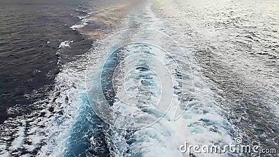 Волны двигателя корабля видеоматериал