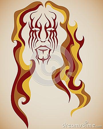 волосы пожара