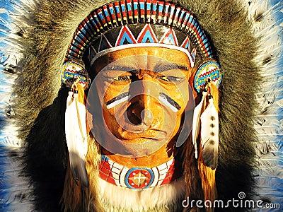 Воссоздание индейца
