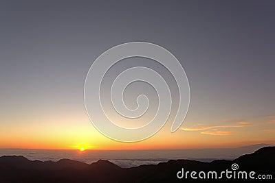 Восход солнца от Haleakala