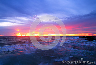 Волны сини