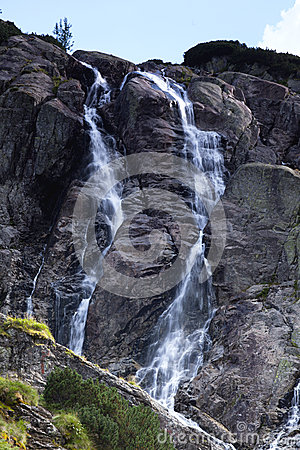 Водопад горы