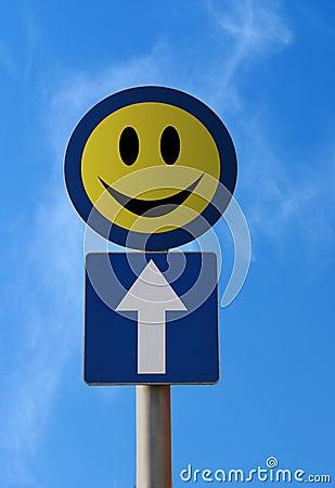 вперед движение знака счастья