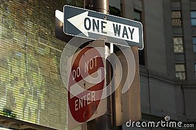 впишите не one-way