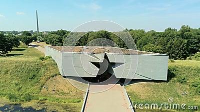 Вход звезды форменный к крепости Бреста в Беларуси Вид с воздуха ориентира видеоматериал