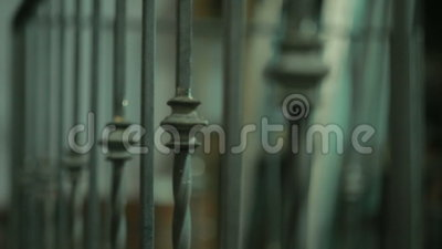Выкованная решетка, загородка сток-видео