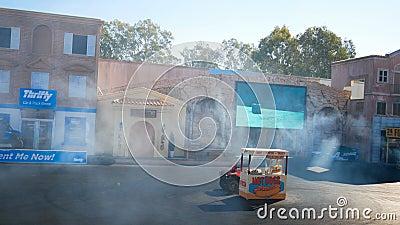 Выставка водителя эффектного выступления Голливуда в мире Gold Coast Квинсленде Австралии кино акции видеоматериалы
